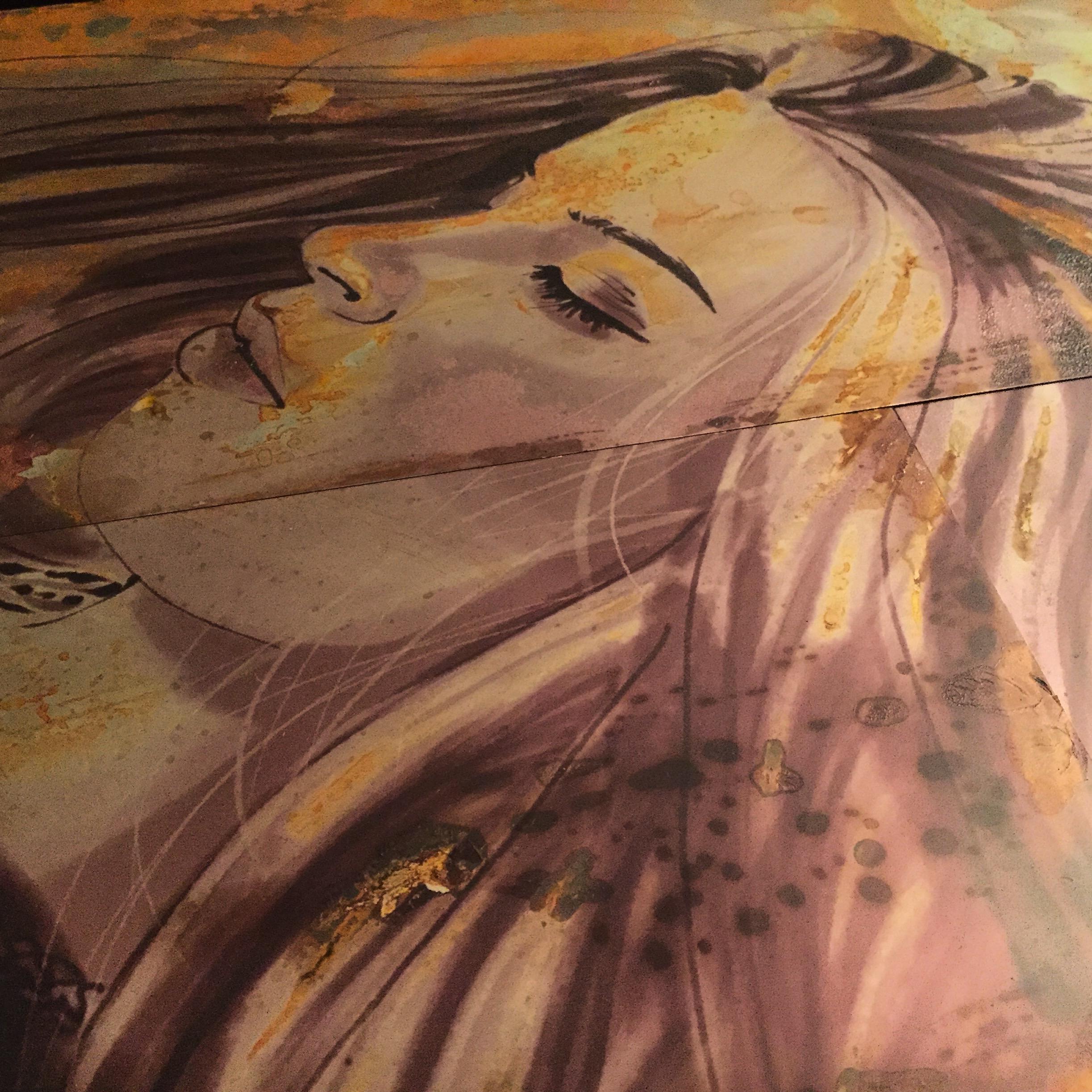 Bespoke metal ink portrait