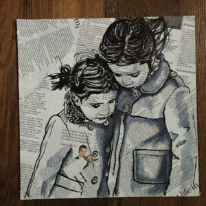 Ink Newsprint portrait of children